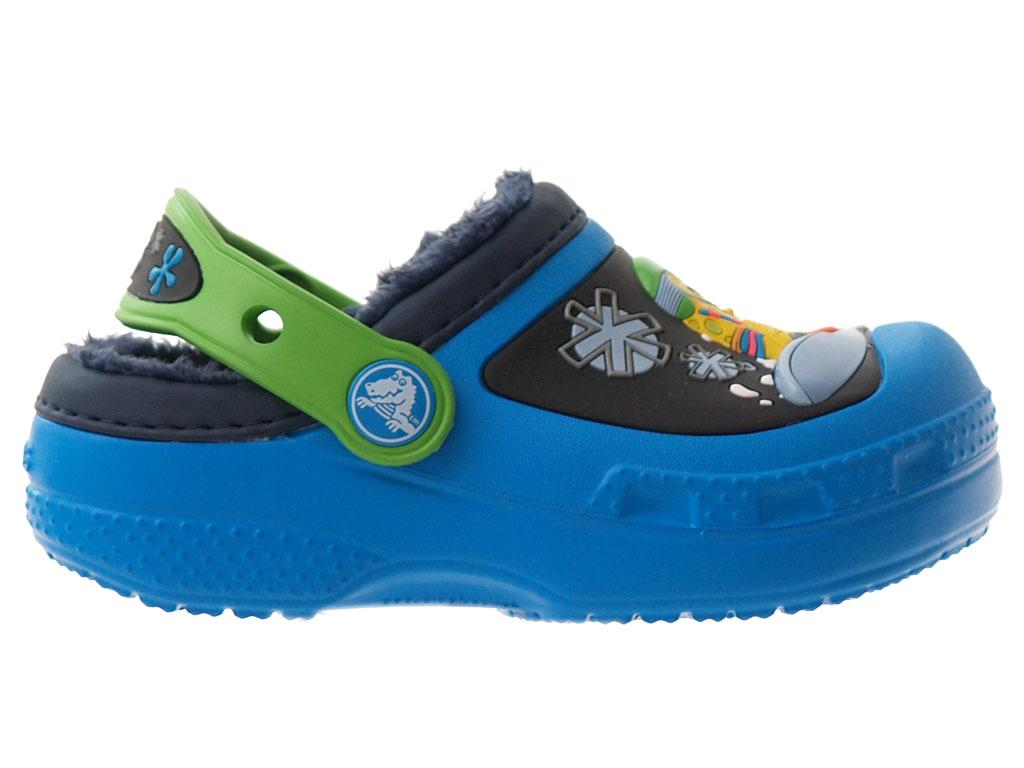 Creative Crocs SpongeBob Goes Snowboarding Lined Clog Kids Ocn/Aqu C6/7