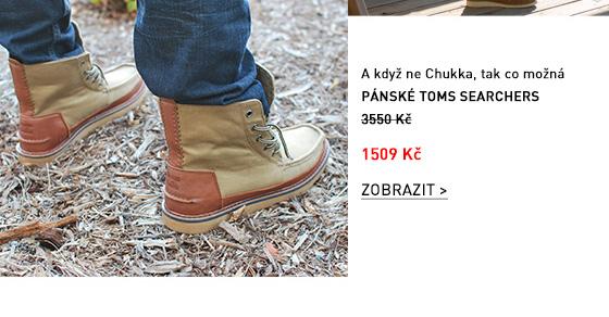 Hnědé pánské kotníkové boty TOMS Searchers