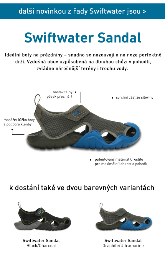 Shiftwater sandály Crocs