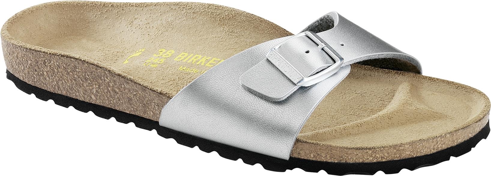 Stříbrné pantofle Birkenstock Madrid Birko-Flor - 37