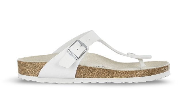 Bílé pantofle Birkenstock Gizeh Birko-Flor - 36