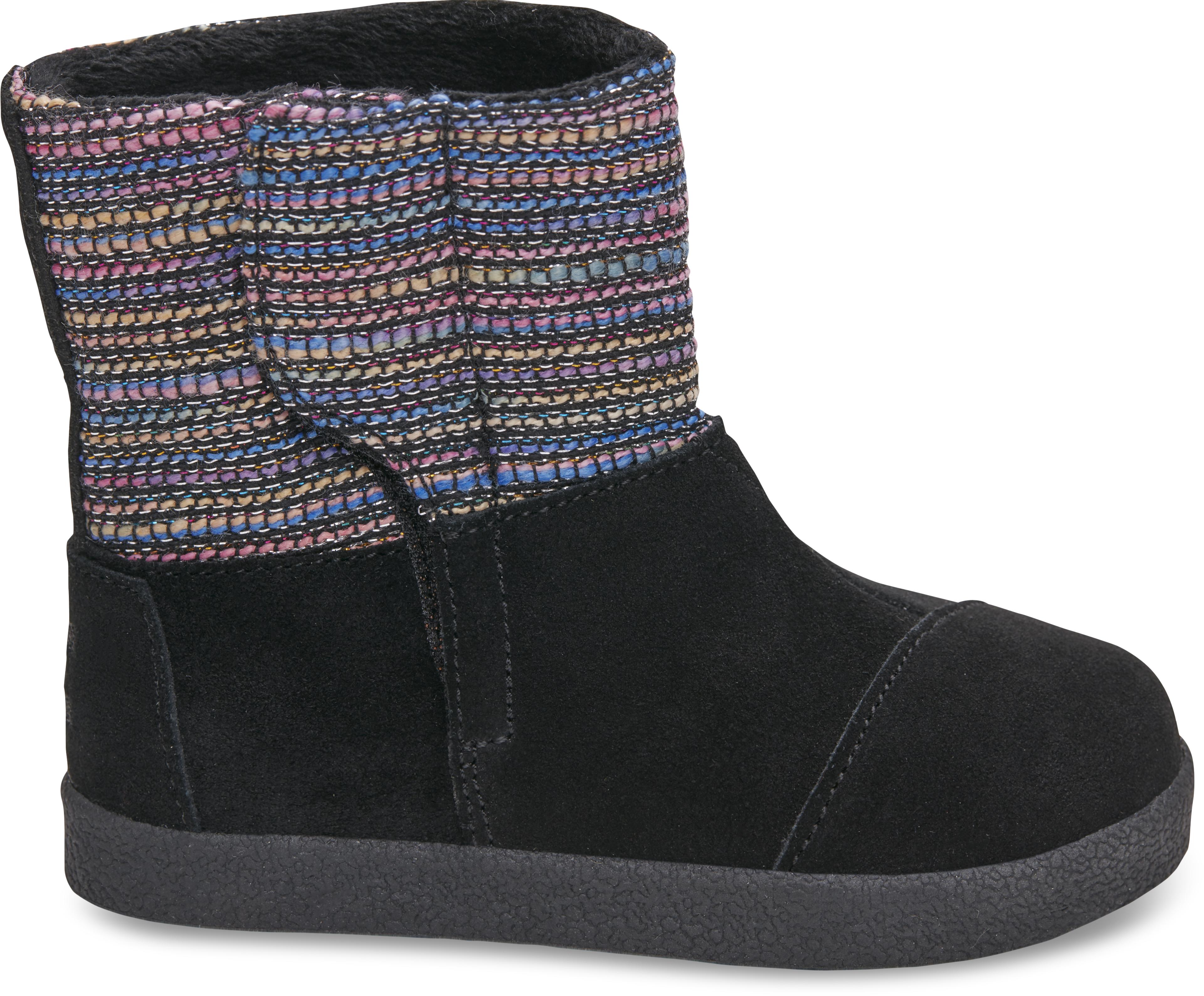 Dětské černé vysoké boty TOMS Tiny Nepal 7/28,5