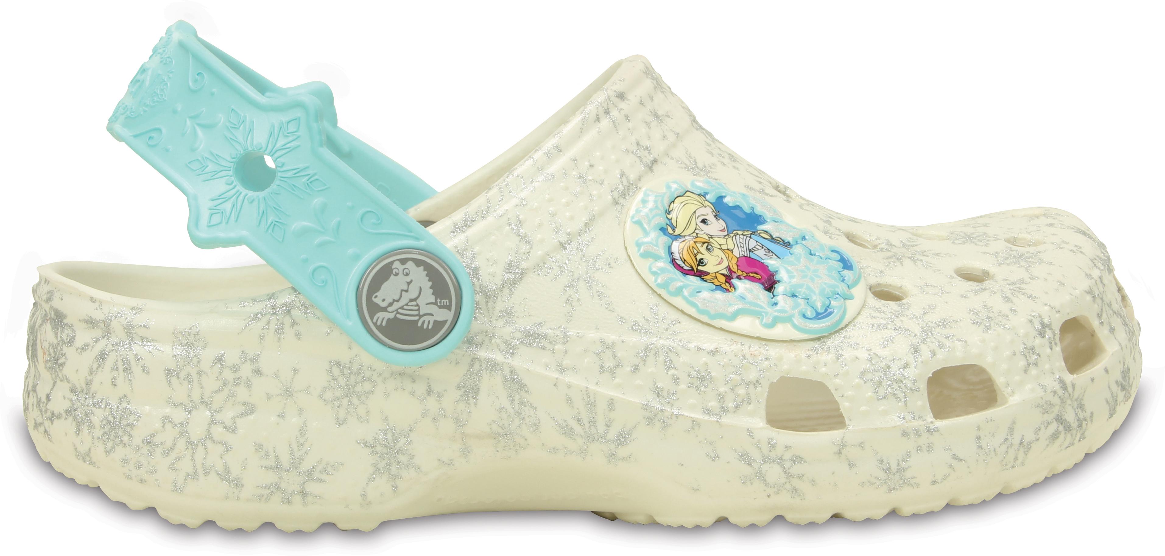 Crocs Classic Frozen Clog Kids - Oyster C4C5