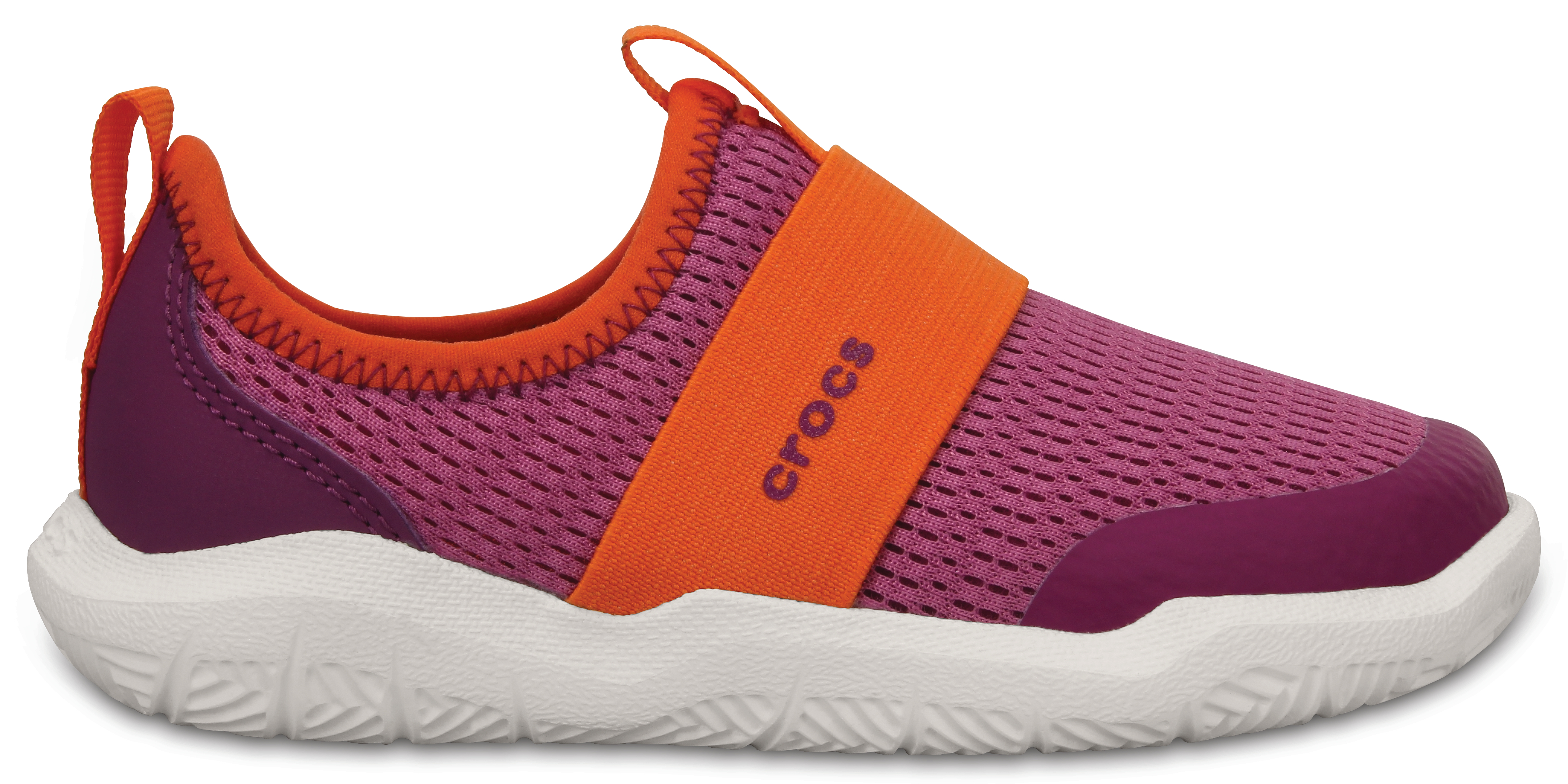 Crocs Swiftwater Easy-on Shoe K - Party Pink/Tangerine C10