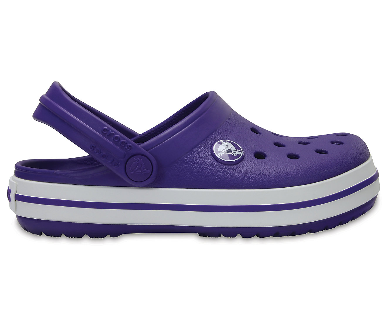 Crocs Crocband Clog K Ultraviolet/White J1