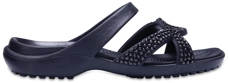 Crocs Meleen Twist Diamante Sandal Black/Black W6