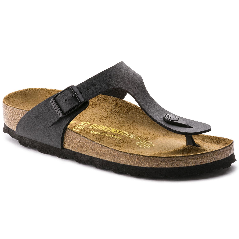 Černé pantofle Birkenstock Gizeh Birko-Flor - 37