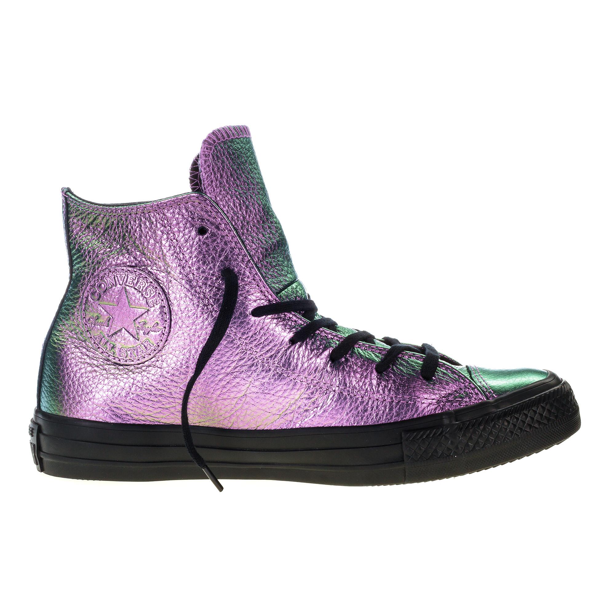 Fialové Converse Chuck Taylor All Star Iridescent Leather Hi – 6/39