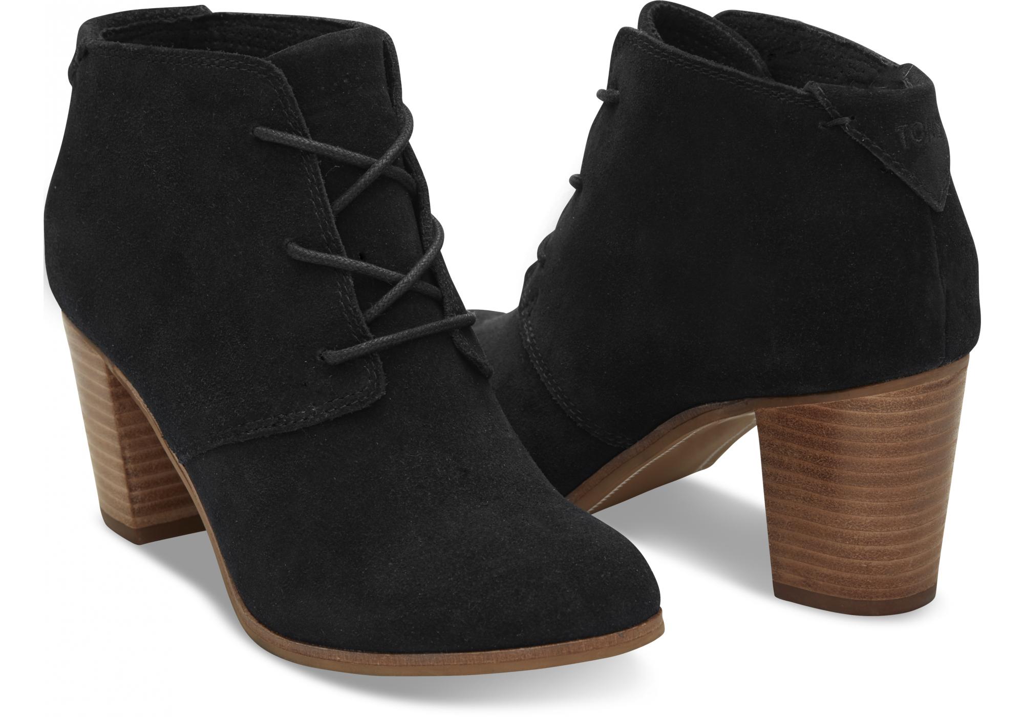 8e89f67ae687 Černé dámské kotníkové boty TOMS Lunata