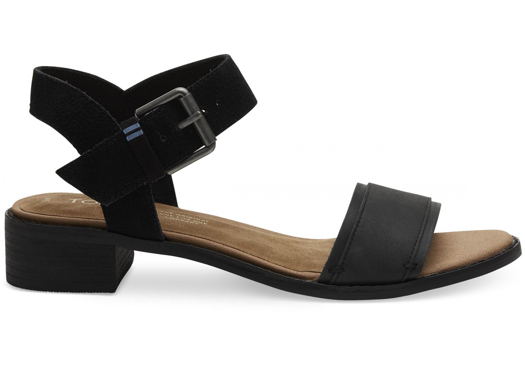 03cc4271f7cb Dámské černé sandály na podpatku TOMS Camilia Sandals