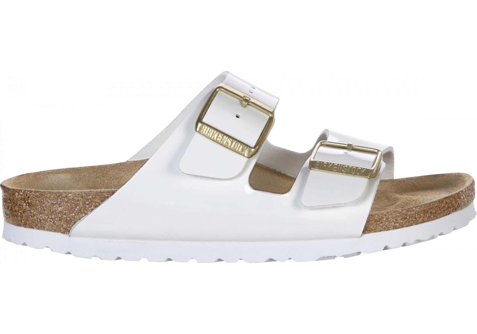 6534e50987 Bílé pantofle Birkenstock Arizona Birko-Flor Patent