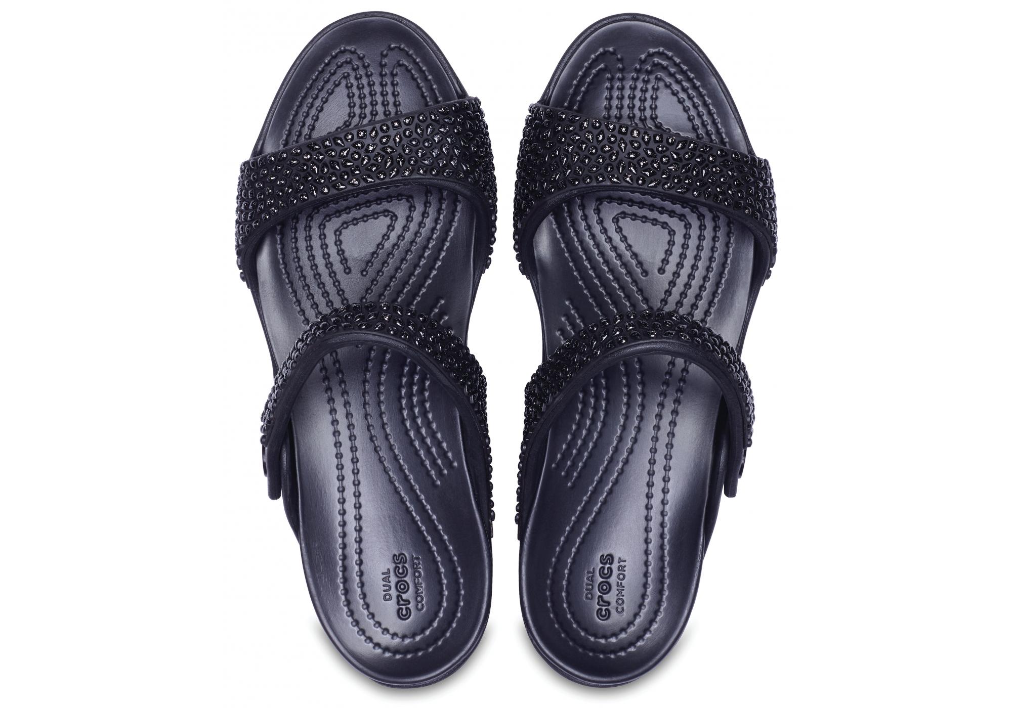b8429b02231d dámské sandály Crocs Cleo V Diamante Sandal W