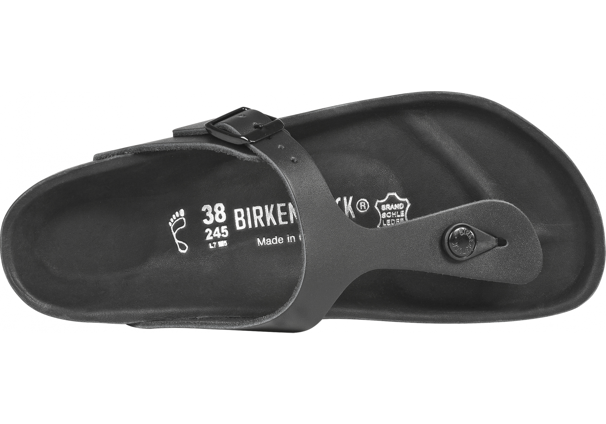 2f52a3482766 dámské černé pantofle Birkenstock Gizeh Exquisite