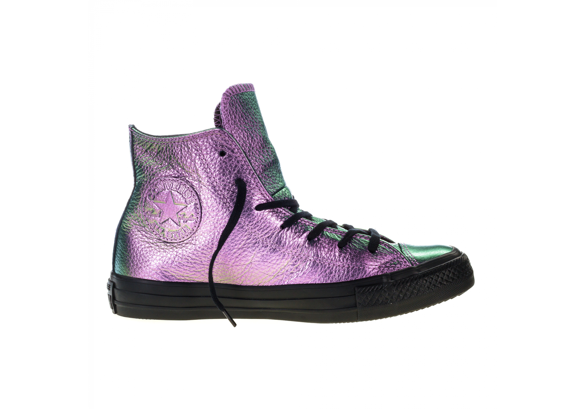 ba151c879db Fialové Converse Chuck Taylor All Star Iridescent Leather Hi