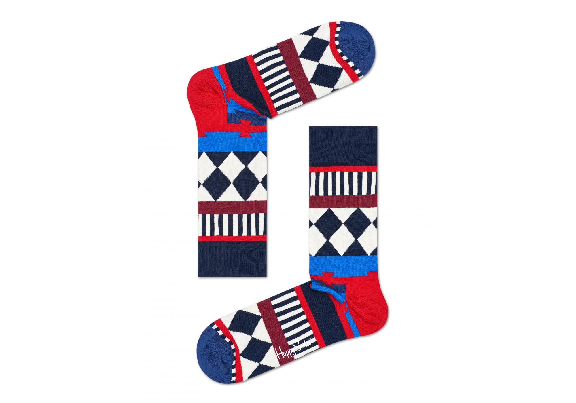 be665c22f13 Barevné ponožky Happy Socks se vzorem Disco Tribe - 2015    10 YEARS  ANNIVERSARY