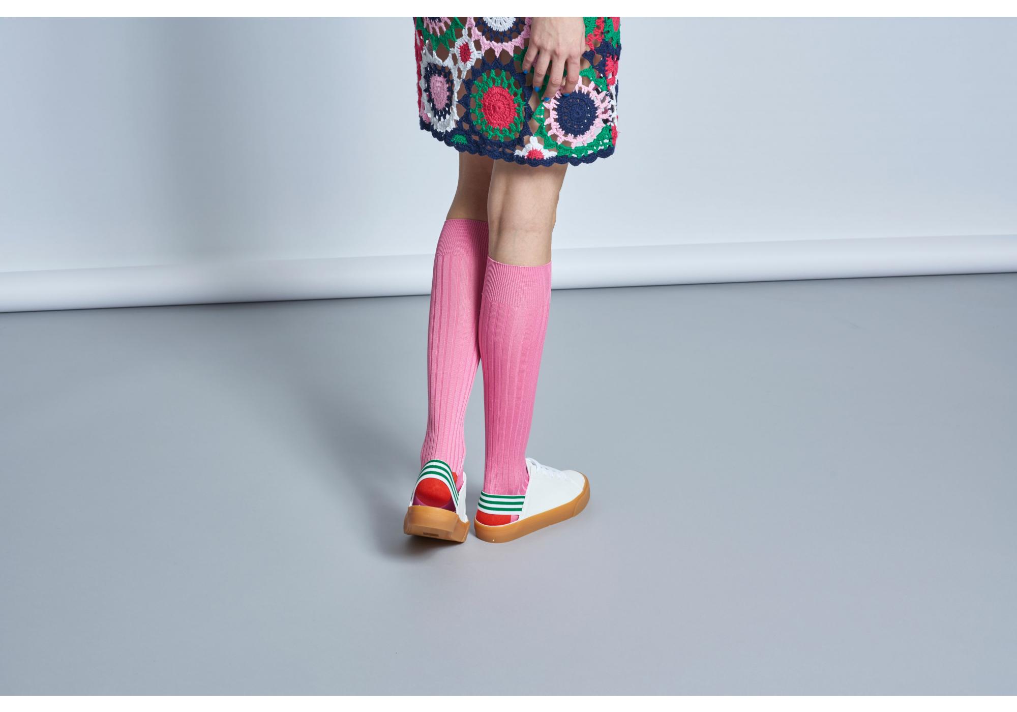 Dámské růžové podkolenky Happy Socks Cilla    kolekce Hysteria 2b85daa475