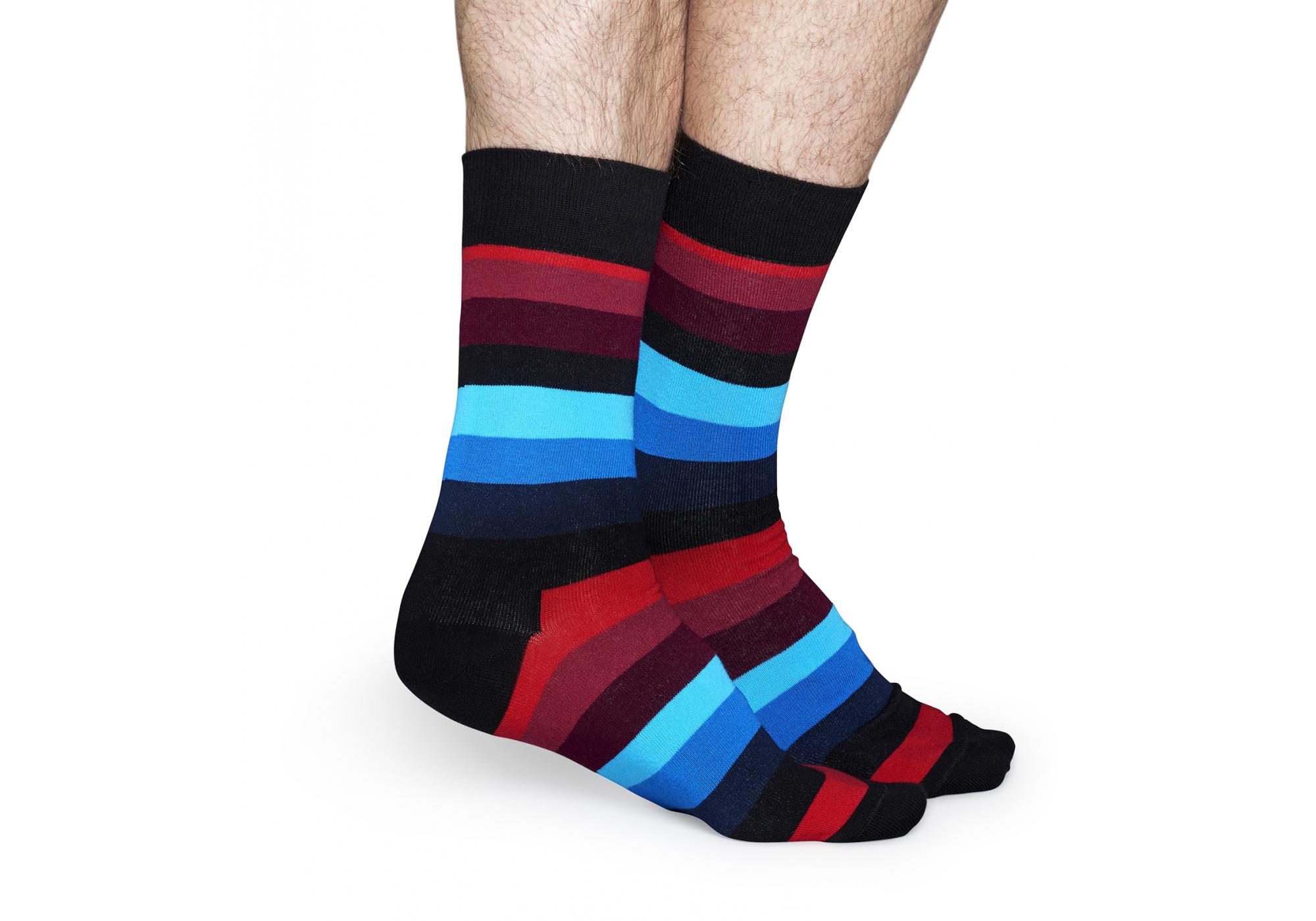 a8e94fea4c8 barevné pruhované ponožky Happy Socks tripe