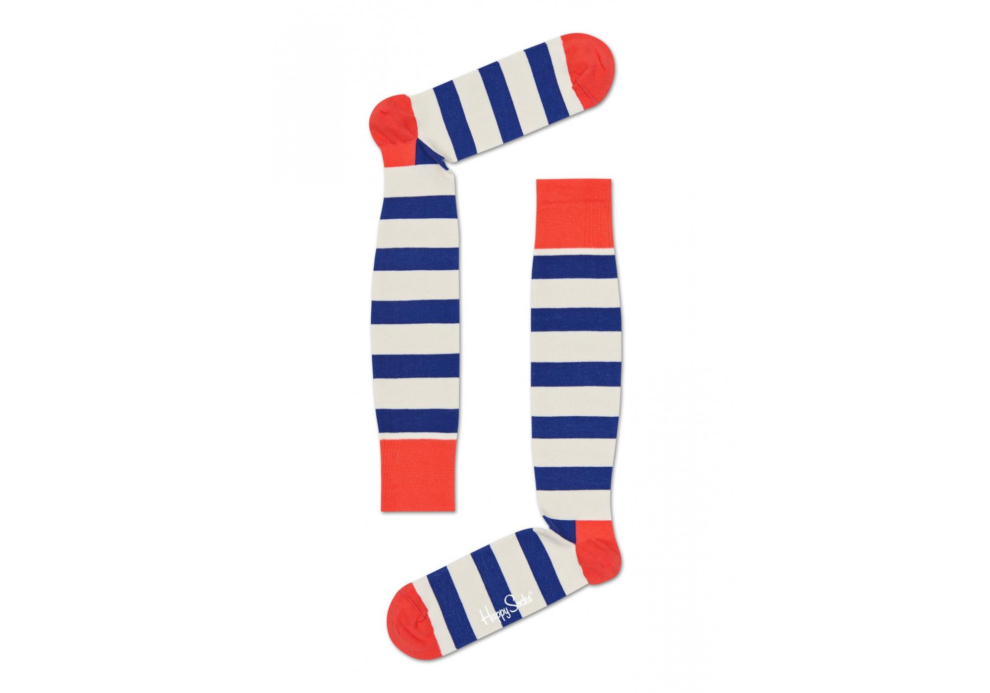Barevné pruhované kompresní podkolenky Happy Socks ce22e4ab20