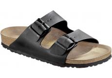 Černé pantofle Birkenstock Arizona Birko-Flor
