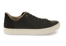 Černé pánské kožené tenisky TOMS Lenox