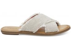 Dámské krémové sandály TOMS Metallic Viv