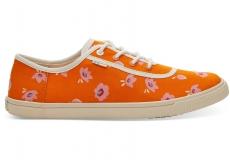 Dámské oranžové tenisky TOMS Flower Print Carmel Sneakers