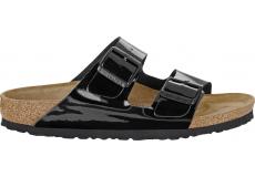 Černé pantofle Birkenstock Arizona Birko-Flor Patent