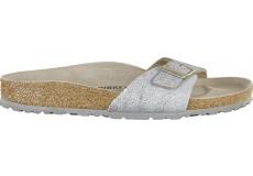 Stříbrné pantofle Birkenstock Madrid Washed Suede