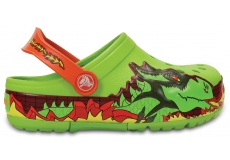 CrocsLights Fire Dragon Clog K - Volt Green C7