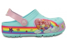 CrocsLights Rainbow Heart Clog K - Ice Blue - C7