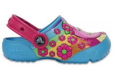 Crocs Fun Lab Clog K - Flamingo/Electric Blue C6