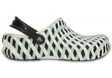 Bistro Gingham Clog  - White M5/W7
