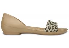 CrocsLina Graphic DOrsay Flat - Leopard W6