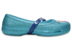 Crocs Lina Frozen Flat K - Ice Blue C7