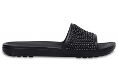 Crocs Sloane Embellished Slide - Black/Black W6