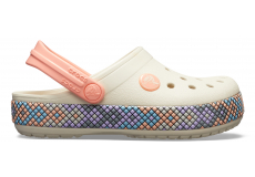 Crocband Gallery Clog K - Stucco/Melon C10