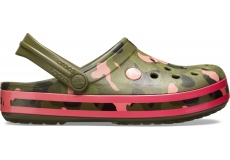 Crocband Seasonal Graphic Clog Army Green/Melon M4W6