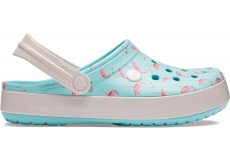Crocband Seasonal Graphic Clog Ice Blue/Pink M4W6