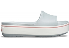 Crocband Platform Slide Light Grey/Rose M4W6