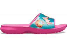 CrocsFL BeachFun Slide K Fuchsia