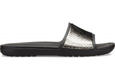 Crocs Sloane MetalText Slide W Gunmetal/Black W10