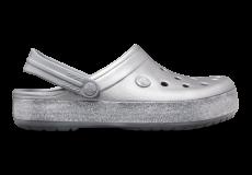 Crocband Printed Clog Metallic Silver M4W6