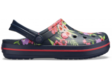 Crocband Printed Clog Tropical Floral/Navy M4W6