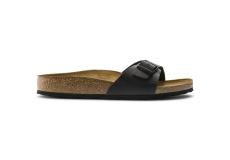 Čierne pantofle Birkenstock Madrid Birko-Flor