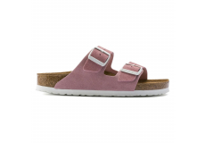 Růžové pantofle Birkenstock Arizona SFB Suede Leather