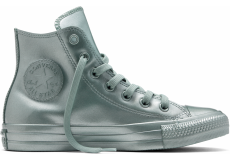 Stříbrné Converse Chuck Taylor All Star Metallic Rubber Hi