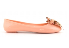 Jelly Ballerina With Printed Bow Arancio