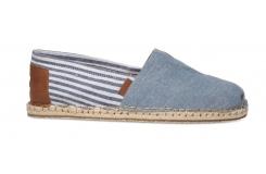 Pánské modro-bílé TOMS Stripe Seasonal Classics Alpargatas