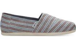 Pánské modro-hnědé Toms Stripe Seasonal Classics Alpargatas