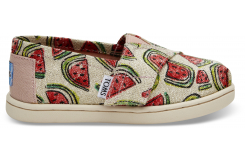 Dětské barevné TOMS Watermelons Seasonal Classics Tiny Alpargatas